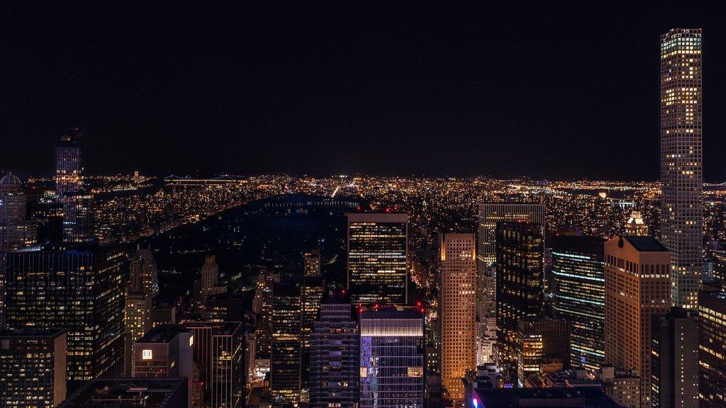 Central Park bei Nacht
