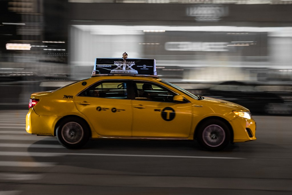 Ein New Yorker Taxi
