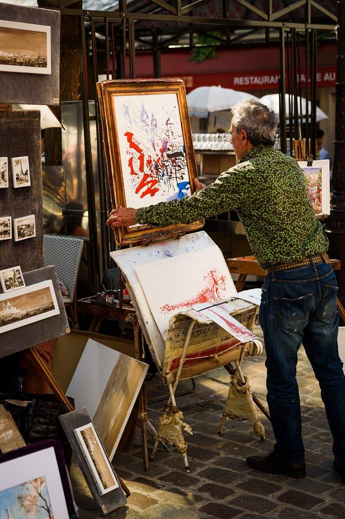 Ein Maler auf Montmartre